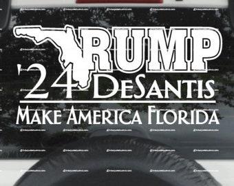 v2 Trump DeSantis 2024  Make America Florida VINYL DECAL Choice of size and color