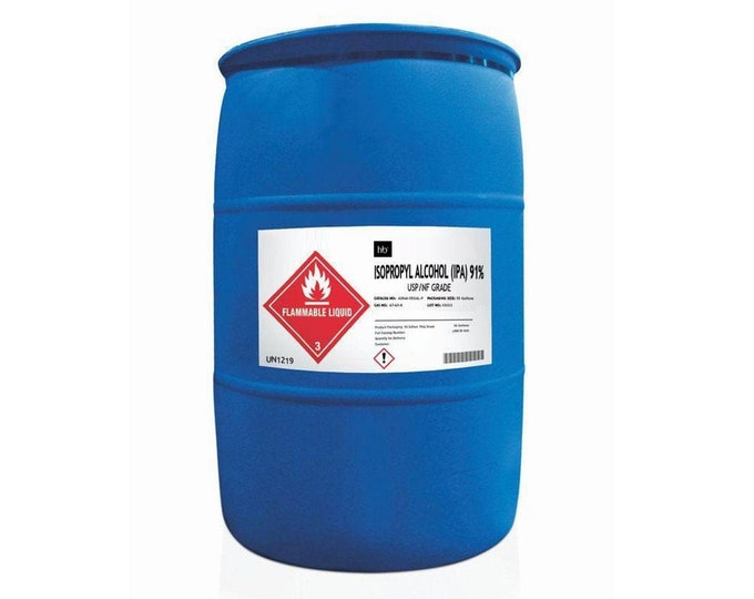 91% Isopropyl Alcohol (Rubbing Alcohol) 55 Gal Drum