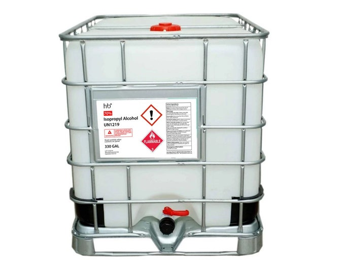 70% Isopropyl Alcohol (Rubbing Alcohol) 330 Gal Tote