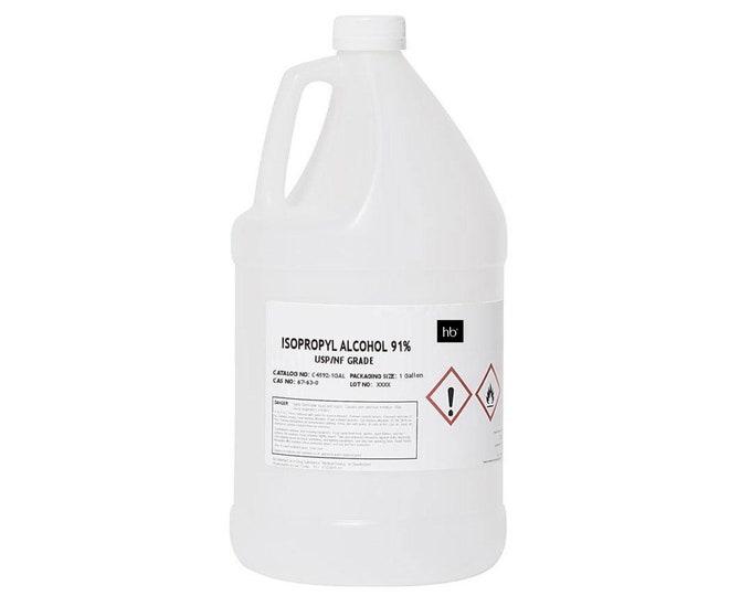 91% Isopropyl Alcohol (Rubbing Alcohol) 1 Gal Jug