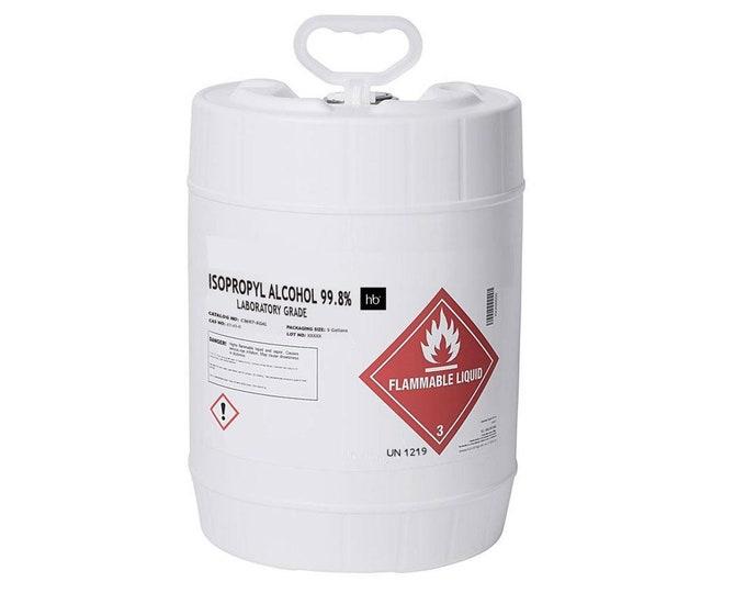 99% Isopropyl Alcohol (Laboratory Grade) 5 Gal Pail