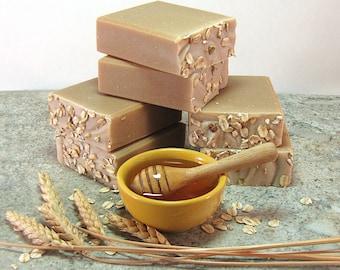 Oats and Honey handmade moisturizing soap