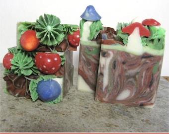 Mushroom Land, Palm Free Soap, handmade