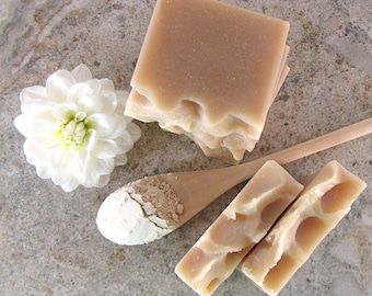 Colloidal Oats and Coconut Milk, unscented handmade soap for sensitive skin