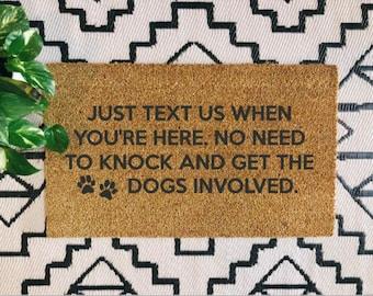 Dogs Involved Doormat | Dog Doormat | Pet Gift | Dog Lover | Dog Mom | Boho | Modern Farmhouse