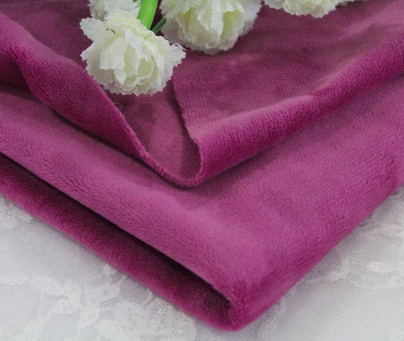 Faux Fur Fabric By The Yard Plush Toys Fabric Solid Smooth Minky Fabric Cuddle Fabric