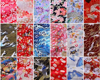 Japanese Fabric, Pure Cotton, Sewing Fabric, By the Half Yard