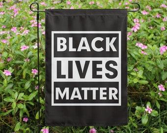 Black Lives Matter Garden Flag Etsy
