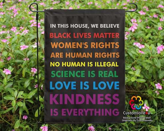Usa In This House We Believe Black Lives Matter Garden House Etsy