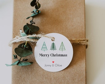 Christmas Gift Hang Tags Christmas Labels Holiday Gift Tags - Free US Shipping - Custom Christmas Holiday Stickers and Tags