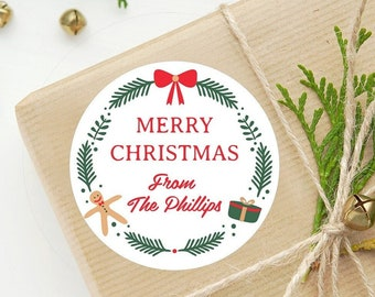 Christmas Gift Stickers Christmas Labels Holiday Gift Tags - Free US Shipping - Custom Christmas Holiday Stickers and Tags