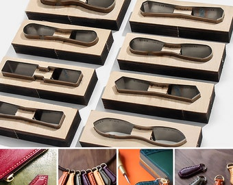Zipper Punch Set of 15pcs Zipper Holder Leather Cutting Die Earring  Clicker Steel Leather Die Cut Mold  Leather Die Cutter