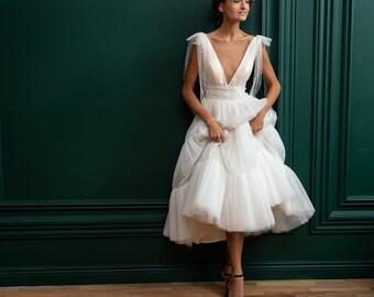 Midi Wedding Dress Etsy,Wedding Dress Glitter Top