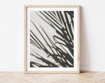 Botanical Shadows Wall Art, Greenery Canvas Print, Botanical Print, Home Decor, Printable, Shadows Poster, Coastal, Tropical, Leaves