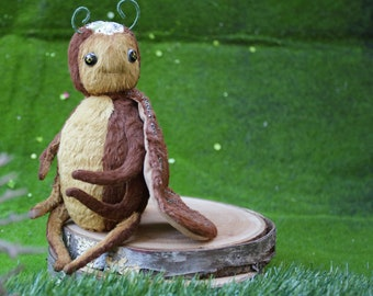 Carmine Cricket soft Stuffed DOLL to sew     From The Cricket Factory    Insects are fun to make and give
