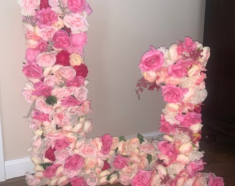 Large Floral Letters & Numbers
