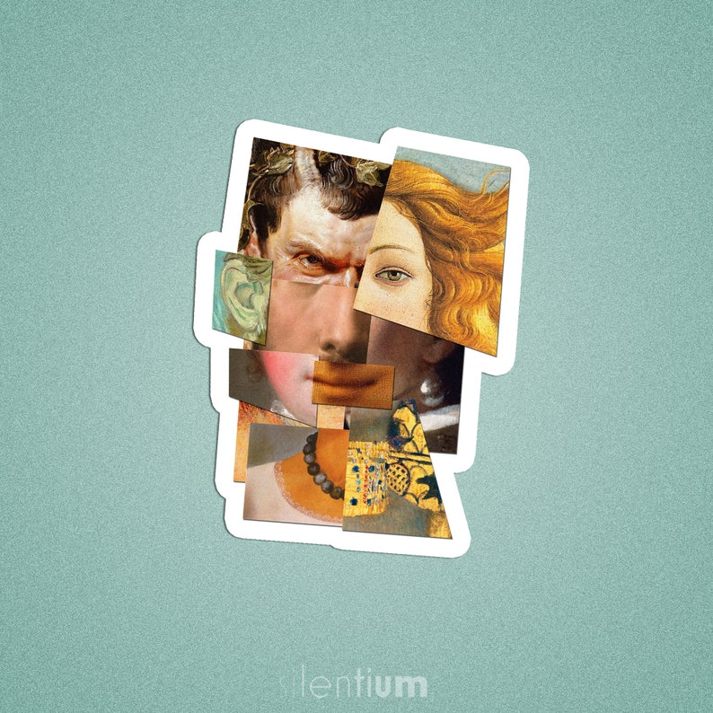 Famous Paintings Portraits Collage sticker,Adult Sticker Planner stickers Art History Sticker laptop decal