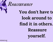 Reassurance Cards