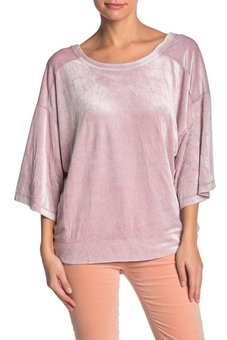 Anthropologie Free People Anthro Gift For Her Boho Valerie Velour Top
