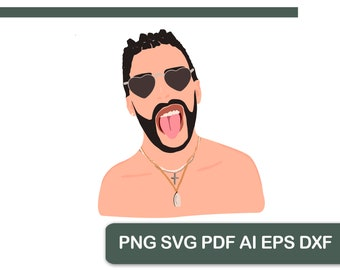 Bad Bunny Svg Etsy