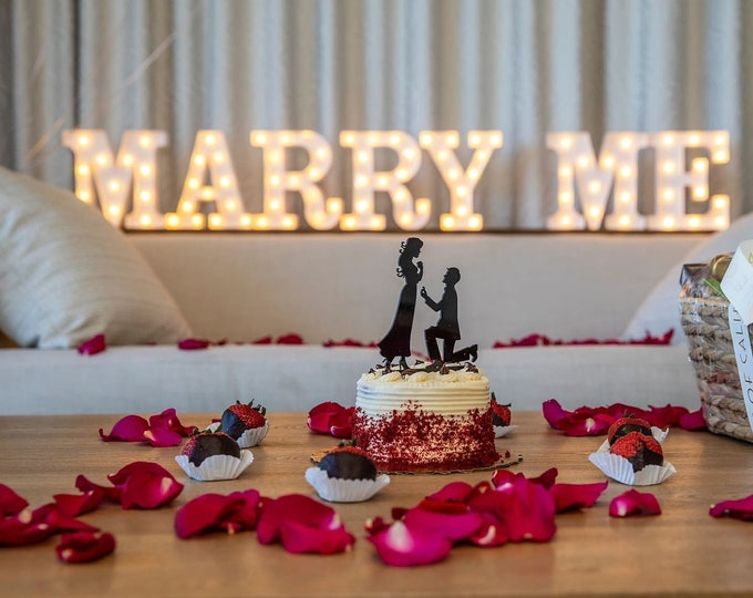 MARRY ME Marquee Wedding Proposal Letters (Total of 7 Letters)