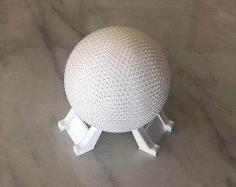 3D Printed Disney World Epcot's Spaceship Earth Twist-Off Lid Container Model