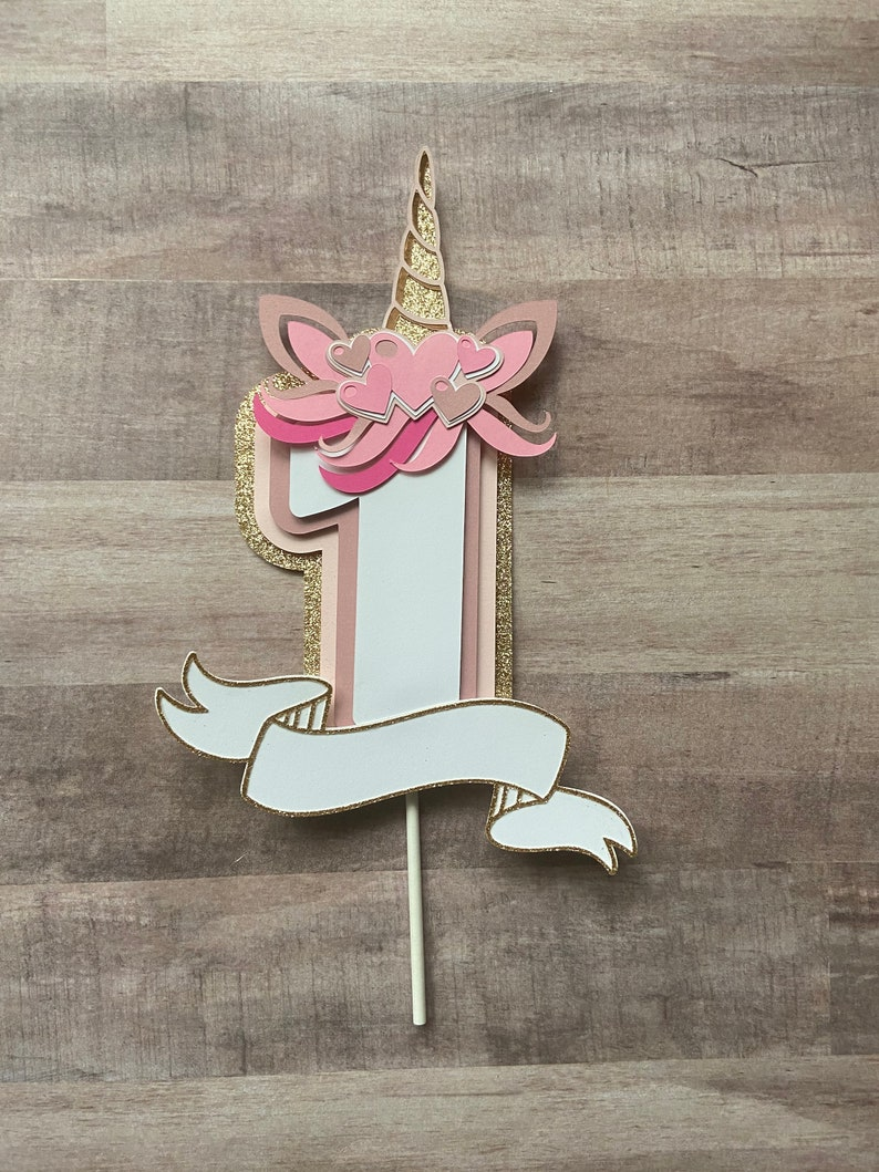 Baby Girls 1st Birthday Baby Girl One First Birthday High Chair Banner Cake Topper Cupcake Toppers Smash Cake Decor