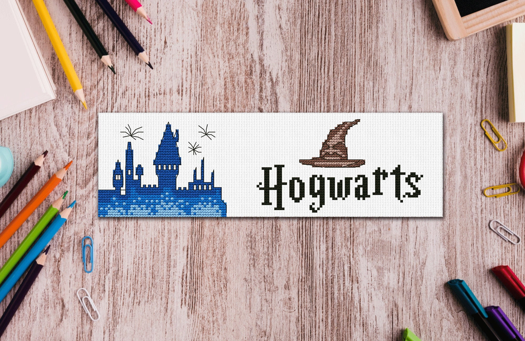 book lover Castle for beginners Bookmark Cross Stitch Pattern gift for reader Hogwarts PT-586 Needlepoint Kits Embroidery