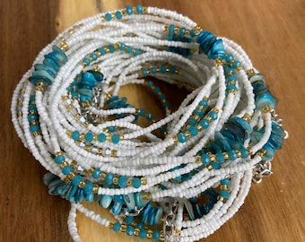 for their Beauty and the Female Essence they Invoke Charm and Pearls Waist Beads Tie On Worn by Women of all Shapes and Sizes
