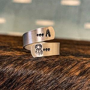 Cactus+Cow Head Aluminum Stamped Western Ring