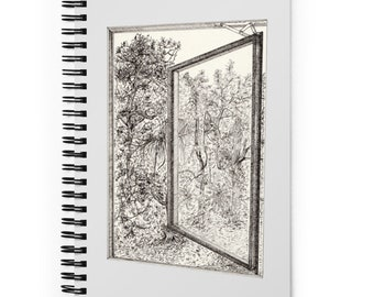 View From The Window   Line drawing   Spiral notebook
