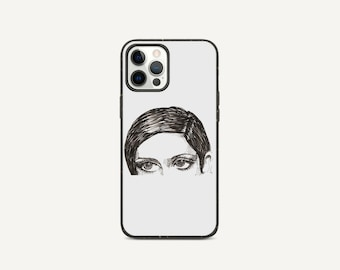 Looking Portrait   Pen & Ink Drawing   Biodegradable phone case