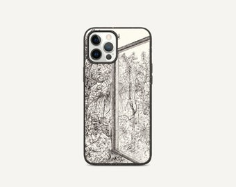 View From The Window   Line drawing   Biodegradable phone case
