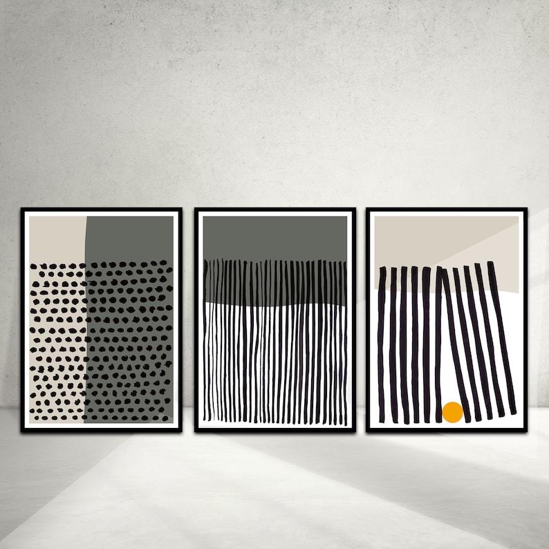 Printable Artwork Instant Digital art 50x70 downloadable poster to frame Stylish Home Print Minimalist Modern Geometric set of 3