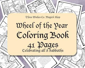 Pagan Coloring Page Etsy