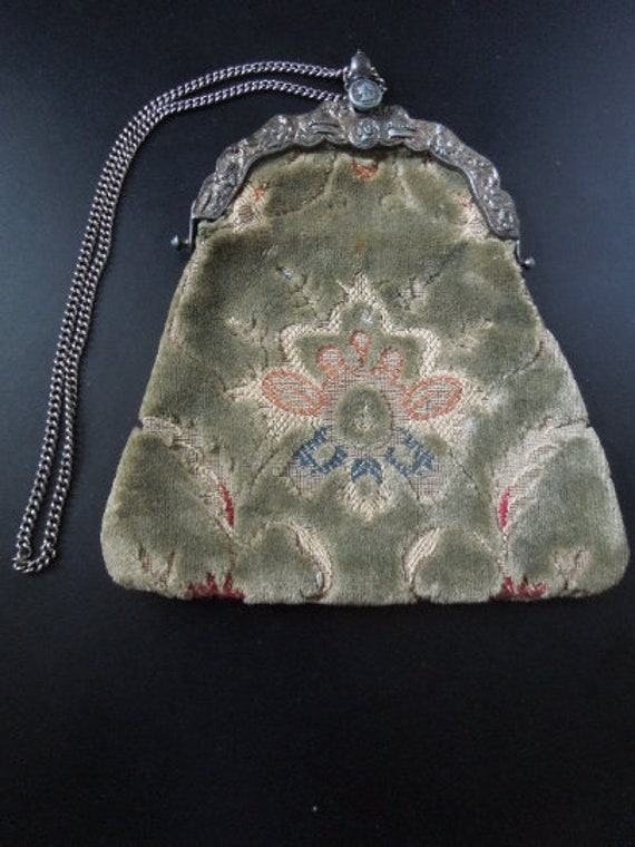 Vintage carpet evening bag / purse
