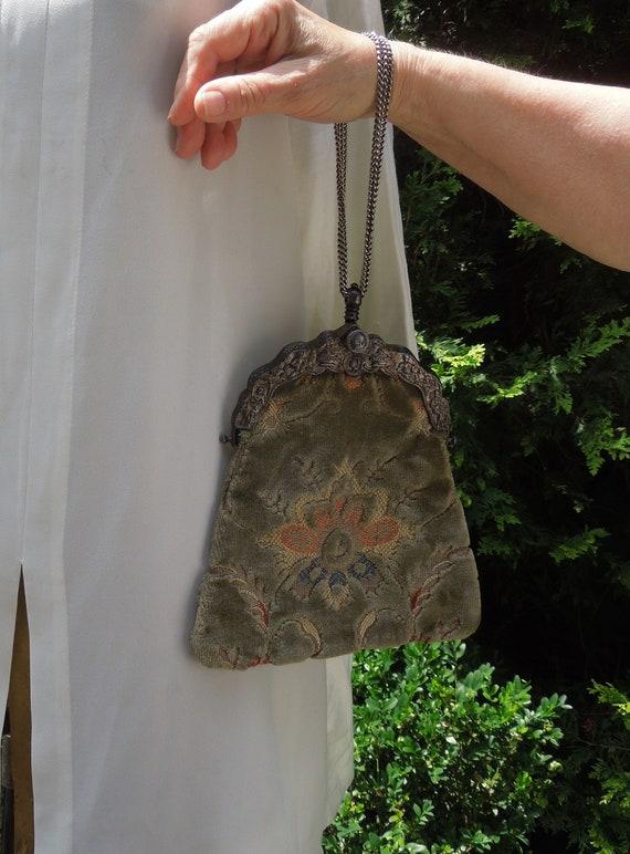 Vintage carpet evening bag / purse - image 2