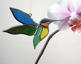 Hummingbird - Little Stained Glass Suncatcher