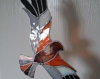 Marsh Harrier - Stained Glass Suncatcher Hawk, Bird of Prey, Bird Lover's Gift, Ornithology/ Nature Gift