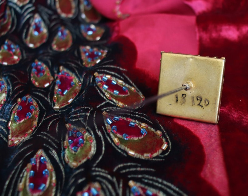 Antique black gemstone Hat Pin  decorative hat pins