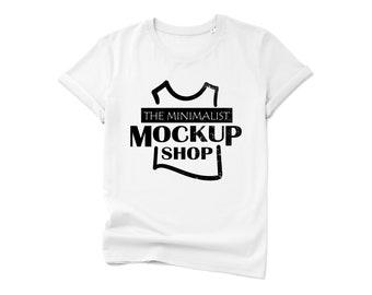 Stanley Stella plain tshirt mockup Navy tshirt Mockup French Navy Creator Mockup Minimalist Mockup Unisex shirt mockup