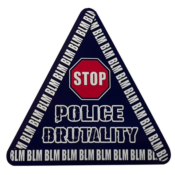 Stop Police Brutality Decal Vinyl Sticker