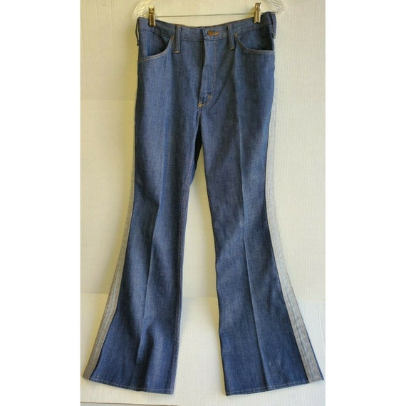 Vintage 1970's Wrangler Two Tone Bell Bottoms Size