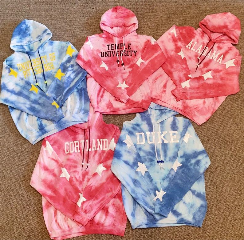 tailgate shirt college crop top custom sweatshirt custom crop top Custom tie dye college hoodie and crop top bundle college sweatshirt