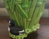 Vintage Ceramic Bamboo Pot