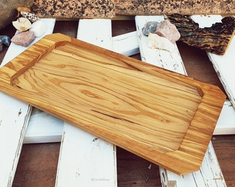 Olive Wood Serving Tray, Lunch Plate, Olive Wood Food Plate, Long Wooden Tray, Tea Coffee Biscuit Board, Meat & Fruit Tray, Cheese Tray Wood