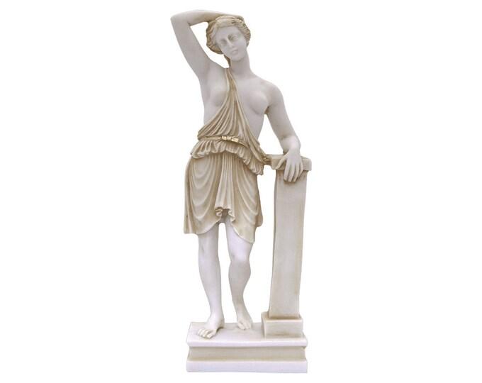 Artemis Diana Bronze Statue Ancient Greek Roman Mythology Goddess Handmade Craft Sculpture 40cm