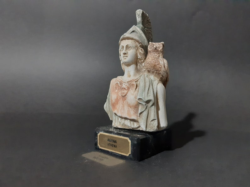 Athena Bust Statue Greek Mythology Handmade Sculture 10cm