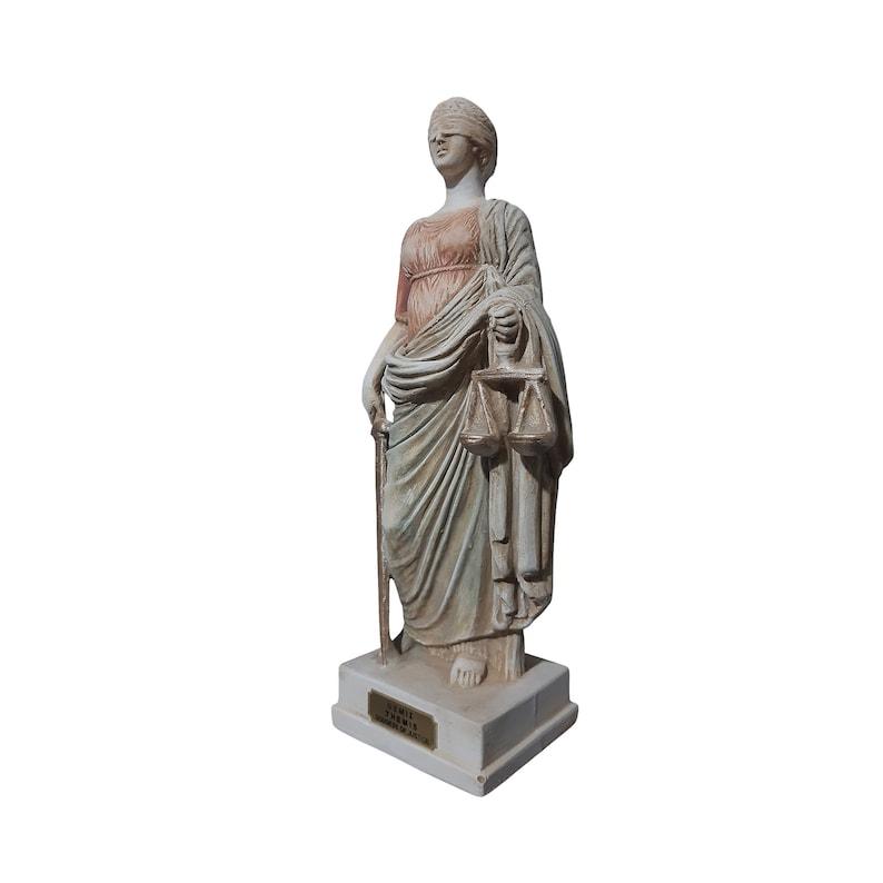 Themis Statue Greek Roman Goddess of Justice Handmade Sculpture 29cm