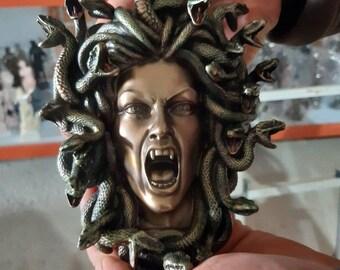 Medusa wall Statue Greek mythology monster statue 19cm